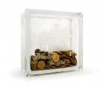 Glass block money box dream house