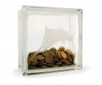 Glass block money box kingfish