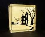 Glass block Halloween Lamp