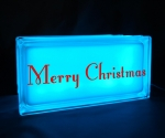 Merry Christmas night light blue