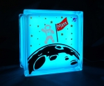 Astronaut space glass block night light