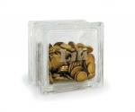 Personalised small glass block money box