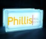 Phillis real estate glass block light GloBlock