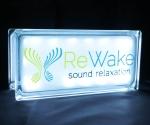 Rewake meditation glass block light globlock