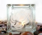 tea light candle holder seashell Wentletrap