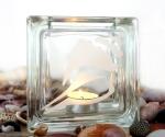 tea light candle holder seashell conch