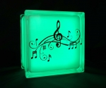 LED night light with music notes