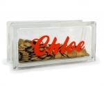 personalised money box glass block