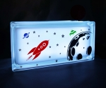 Space theme decal night light