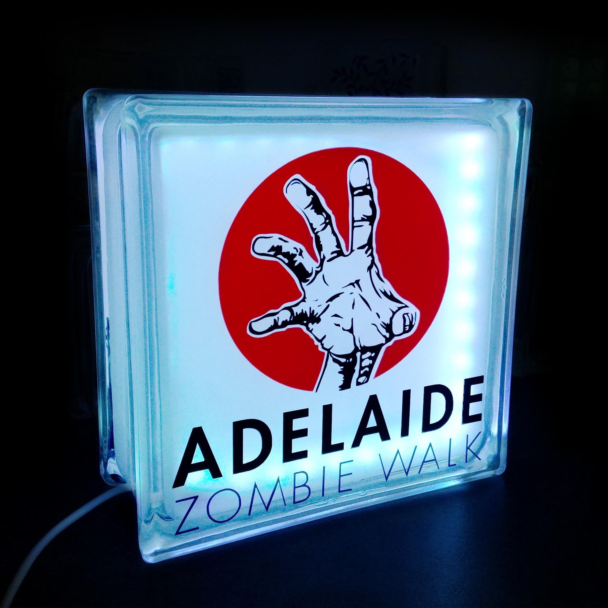 Adelaide zombie walk glass block globlock