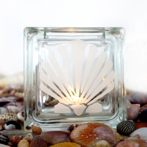 tea light candle holder seashell Pectinidae