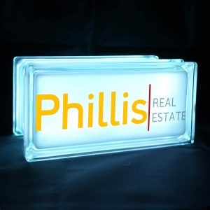 Phillis real estate glass block light GloBlock