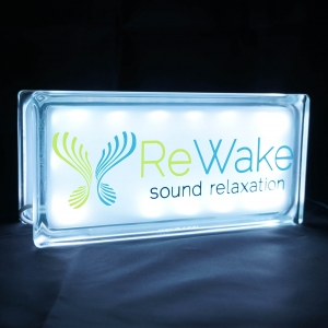 Rewake meditation glass block light globlock