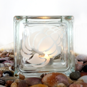 tea light candle holder seashell Wentletrap