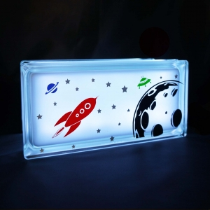 Space theme decal night light