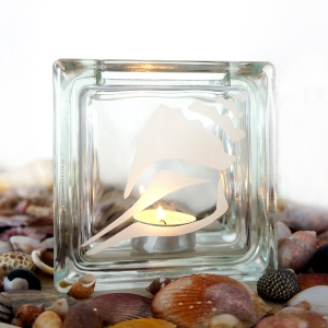 tea light candle holder seashell conch