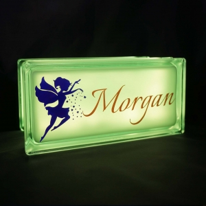 Personalised fairy glass block night light