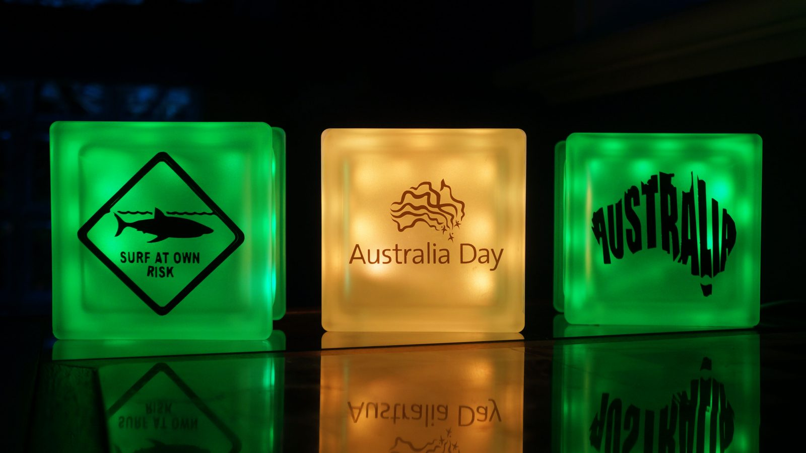 Green and Gold Australia day GloBlocks