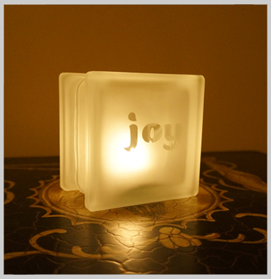 Glass Block Candle Holders Glass Candle Holder Peace
