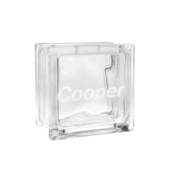Clear glass money box