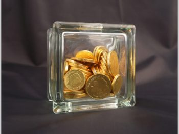 Glass money box