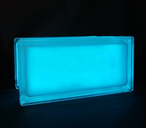 Blue glass block night light