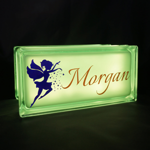 Personalised nightlight with fairy