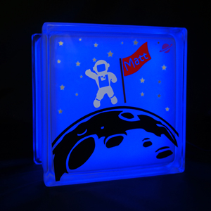 Kids nightlight with space theme astronaut