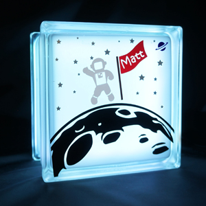 Night light with space theme astronaut