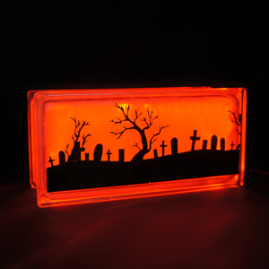 Halloween light graveyard scene