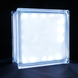 Square LED glass block night light