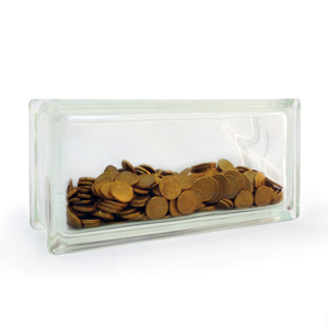 Money box glass block short