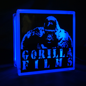 Glass Block Globlock custom Gorilla films logo
