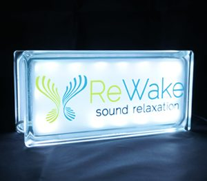 Rewake meditation glass block globlock