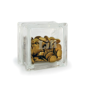 Personalised glass block money box