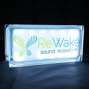 Rewake meditation soundtrack Glass block Globlock