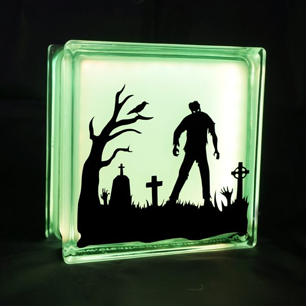Zombie glass LED light globlock