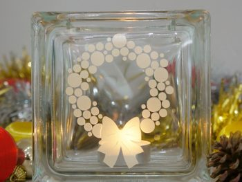 Christmas wreath candle holder