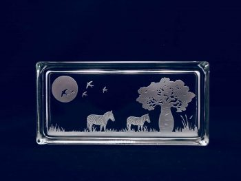 Etched art glass